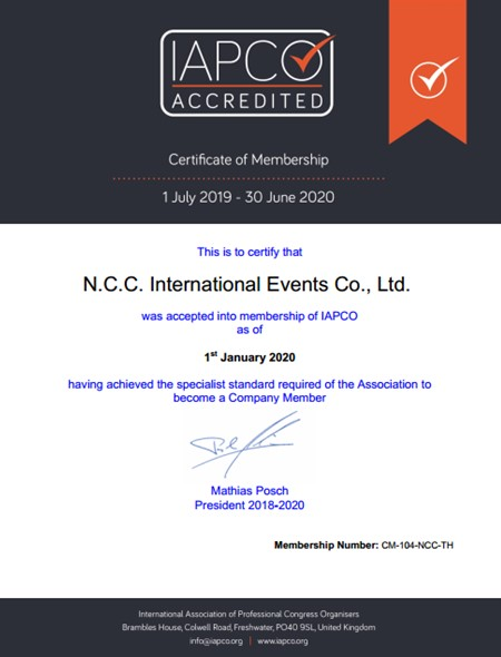 NCCIE achieves certification as Thailand's first PCO